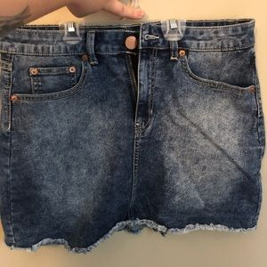 Denim skirt!